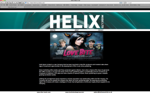 Helix Music web design and build