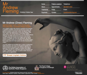 Mr Andrew Fleming web design and build