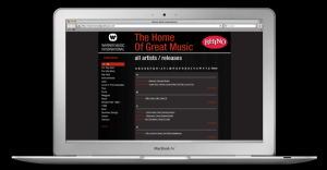 Warner Music. Web site design and build
