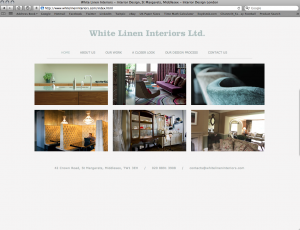 white linen interiors web design and build