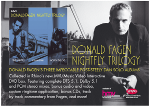 Donald Fagen Advertising Warner Music Specialist Press Graphic Design and Production