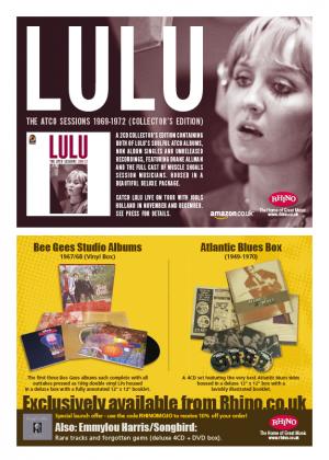 Lulu and Bee Gees Press Advertising