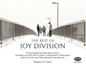 Joy Division Press Advertising Warner Music