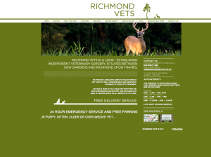 Richmond Vets Website Design and Build