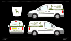 Richmond Vets Van Livery